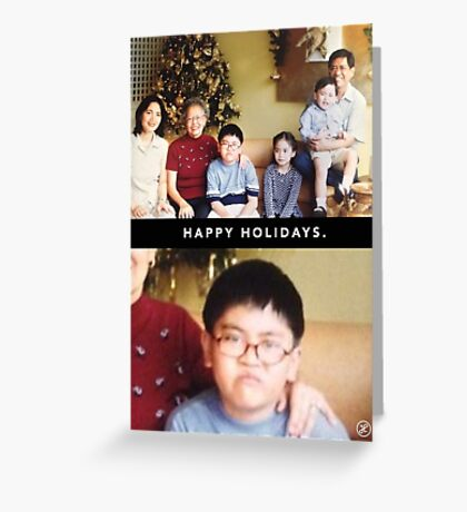 Grumpy Christmas Kid Greeting Card