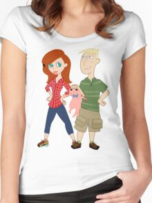 Amy Possible + Rory Stoppable  Women's Fitted Scoop T-Shirt
