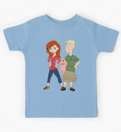 Amy Possible + Rory Stoppable  Kids Tee