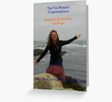 Top Ten Winner - Someone By the Sea Greeting Card