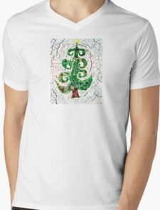 Christmas Crackle Mens V-Neck T-Shirt