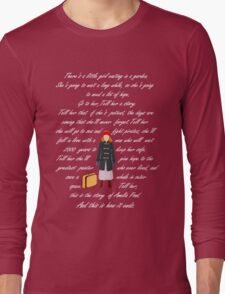 There is a little girl waiting in a garden ( pale) Long Sleeve T-Shirt