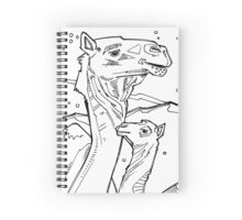 Dromedary, coloring book page Spiral Notebook