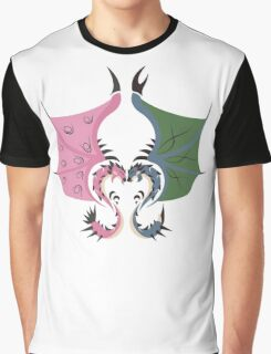 Heaven and Earth - Azure Rathalos x Pink Rathian Graphic T-Shirt