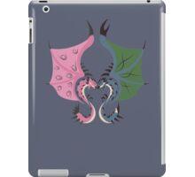 Heaven and Earth - Azure Rathalos x Pink Rathian iPad Case/Skin