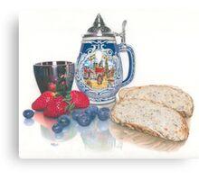Beer, Bread & Berries Canvas Print