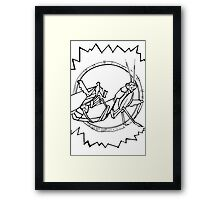 African mantis, coloring book page Framed Print