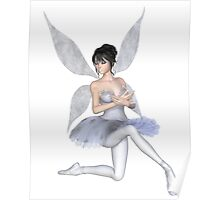 Snowflake Fairy Ballerina Kneeling Poster