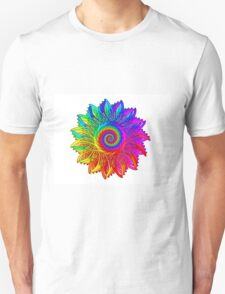 Psychedelic Rainbow Spiral Medallion T-Shirt