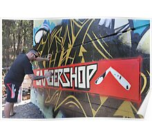 Graffiti Artist At Work Poster
