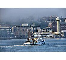 Snow White Returns - Newcastle Harbour NSW Australia Photographic Print