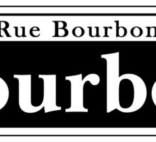 Bourbon St., New Orleans Street Sign Sticker