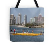 Pontoon on the Broadwater Tote Bag