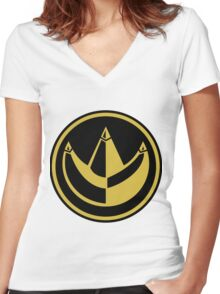 Dragonzord Coin Women's Fitted V-Neck T-Shirt