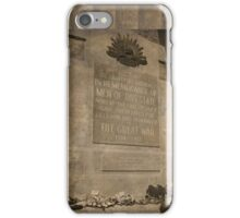 In Remembrance iPhone Case/Skin
