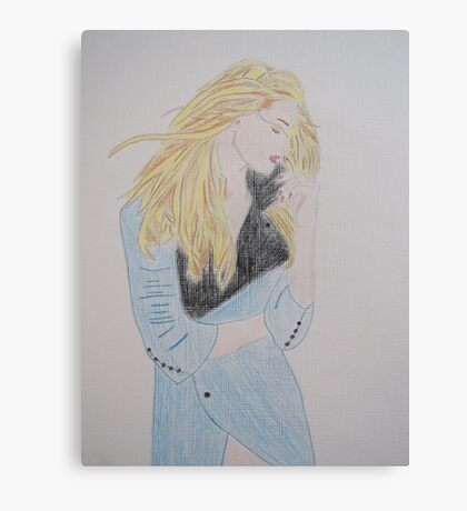 Loving Her Blue Coat Canvas Print