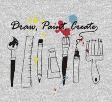 Draw Paint Create   One Piece - Long Sleeve