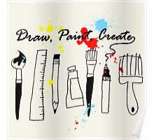 Draw Paint Create   Poster