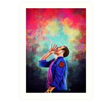 Is there anybody out there Art Print