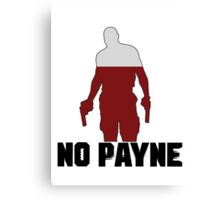 No Payne Canvas Print