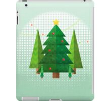 Abstract Geometric Christmas Trees iPad Case/Skin
