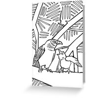 American crow, coloring book page Greeting Card