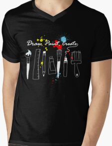 Draw Paint Create  Mens V-Neck T-Shirt