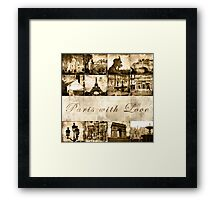 "Paris Calendar Cover ""Paris with Love"" Framed Print"