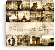 "Paris Calendar Cover ""Paris with Love"" Canvas Print"