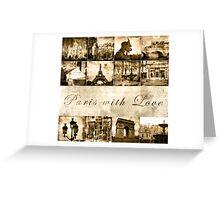 "Paris Calendar Cover ""Paris with Love"" Greeting Card"