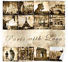 "Paris Calendar Cover ""Paris with Love"" Poster"