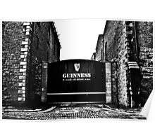 Dublin in Mono: Guinness - St. James's Gate Brewery  Poster