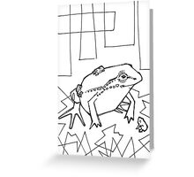 Hip-pocket from, coloring book page Greeting Card
