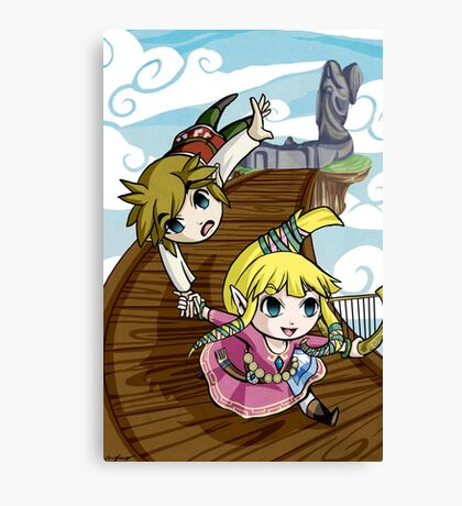 Skyward Sword in the style of The Wind Waker Canvas Print