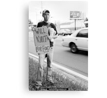 Will Knit For Food Canvas Print