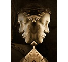 Sculptured stone face Photographic Print