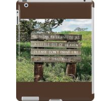 Watch Your Driving! iPad Case/Skin