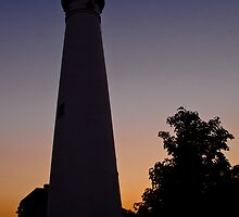 Racine Wind Point Lighthouse Silhouette by TC3 Photography