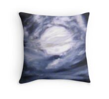 The Moon Was Caught in a Vortex Throw Pillow