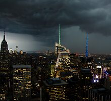 Storm clouds over New York by TC3 Photography