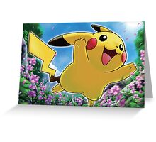 Jumping Pikachu Greeting Card