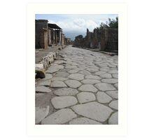 Streets of Pompeii Art Print