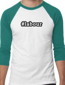 Labour - Hashtag - Black & White Men's Baseball ¾ T-Shirt
