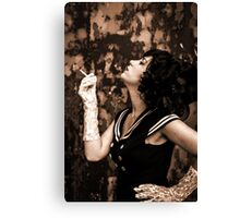Lipstick Stains On Her Cigarette Canvas Print