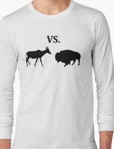 antelope vs bison  Long Sleeve T-Shirt