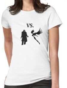 demon vs magic  Womens Fitted T-Shirt