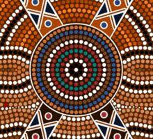 An illustration based on aboriginal style of dot painting depicting secret Sticker