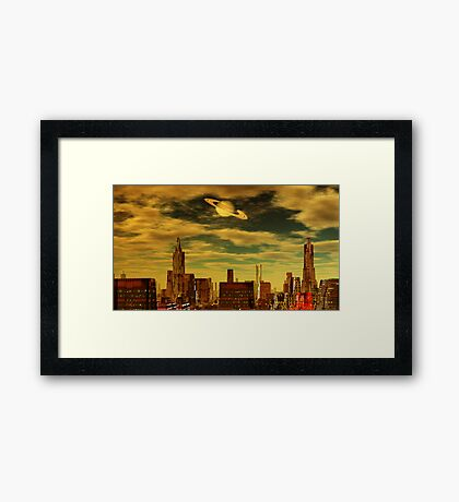 Gotham City - Ringworld Framed Print