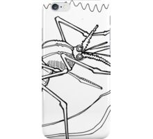Dengue mosquito, coloring book page iPhone Case/Skin