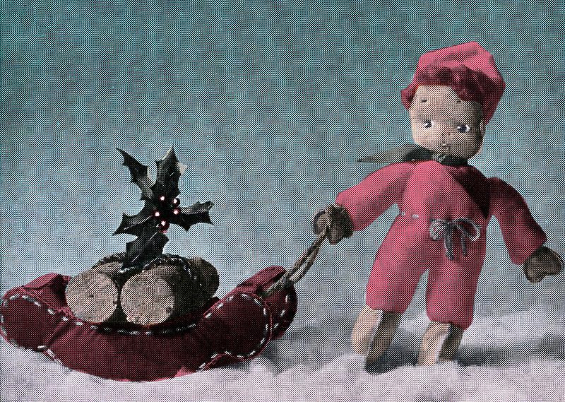 Vintage Retro Christmas Card by Heather Buckley